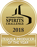 2018 International Spirits Challenge tequila producer of the year gold medal icon
