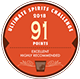 91 Points Ultimate Spirits Challenge red medal icon