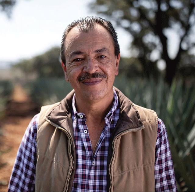 A portrait of Carlos Camarena, master distiller of El Tesoro Tequila.