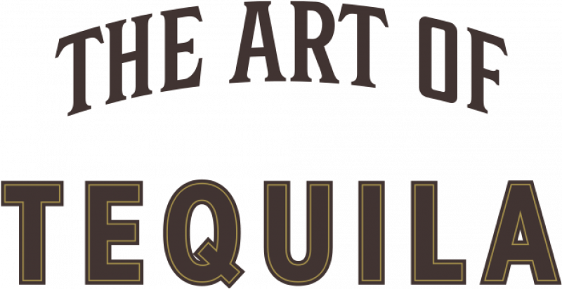 The art of tequila text with bottles of El Tesoro's tequila portfolio.